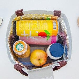 Image 5 - Junejour Neopreen Lunch Tas Voor Kinderen School Waterdichte Lunchbox Oxford Flamingo Draagbare Lunch Tas Tote Handtas Voedsel Container