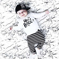 2017 New early autumn clothes sets like a boss cotton material children long sleeve T-shirt+trousers 2pcs/set