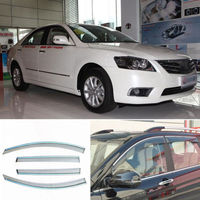 4pcs Smoked Clear Window Vent Shade Visor Wind Deflectors For Toyota Camry 2012
