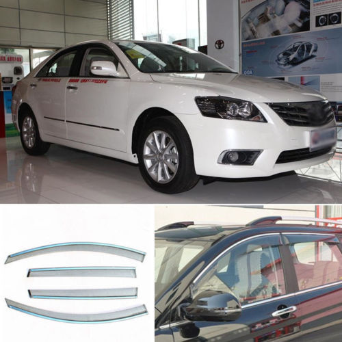 Jinke 4pcs Smoked Clear Window Vent Shade Visor Wind Deflectors For Toyota Camry 2012 ...