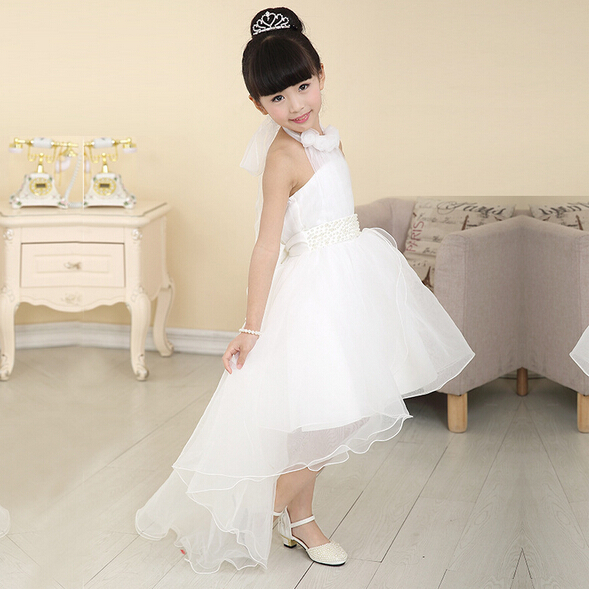 ФОТО 3-12 years summer girl dresses kids white lace Wedding girls dress princess children dress girl clothing
