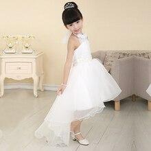 3-12 лет летние девочки платья дети белое кружево Свадьба девушки одеваются принцессы детей платье девушка одежда