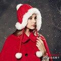 Kenmont Зима Женщины Женский Натуральный Мех Кролика Теплый Открытый Лыжный Шляпу Eaflap Шапочка Cap Рождественские Подарки 1551