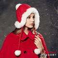 Kenmont Winter Women Female Natural Rabbit Fur Warm Outdoor Ski Hat Eaflap Beanie Cap Christmas Gifts 1551