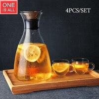 Heat Resistant Glass Tea Pot Flower Tea Set Puer Kettle Coffee Stainless Steel Filter Teapot Convenient