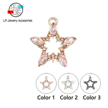 crystal star jewelry accessories,jewelry findings,accessory parts,hand made,diy earrings Pendant ,jewelry making 10pcs/lot