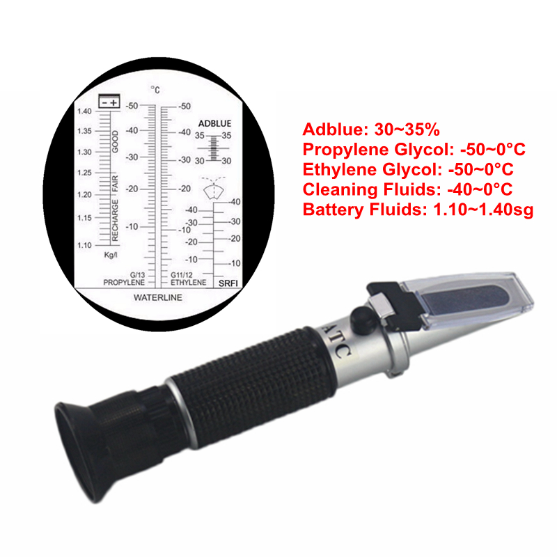 Handheld 4 IN 1 Antifreeze Freezing Point Tester Adblue Concentration Ethylene Glycol Car Battery Refractometer With ATC антифриз mobil antifreeze ultra фиолетовый 1 л
