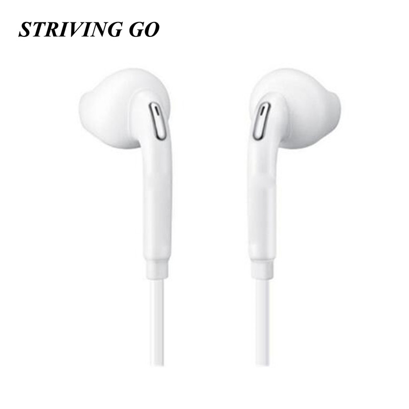 S6 3.5mm In-Ear Earphones Stereo Headset Handsfree Music Sport Earbuds With Mic For IPhone Xiaomi Samsung MP3 PK S8 S7 Am115