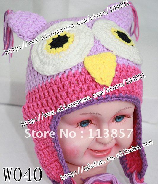 Free shipping (10/lot) 100% cotton knit animal hat ,handmade crochet ...