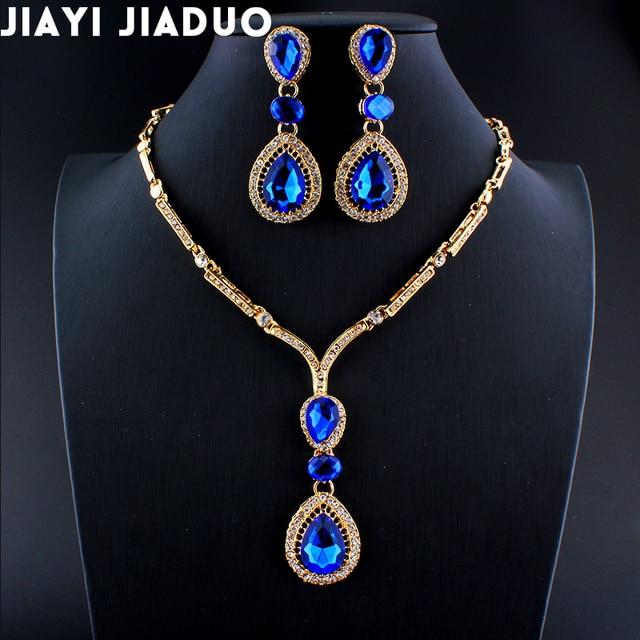 Jiayijiaduo Dubai Jewelry Set Necklace Earrings Set For Women