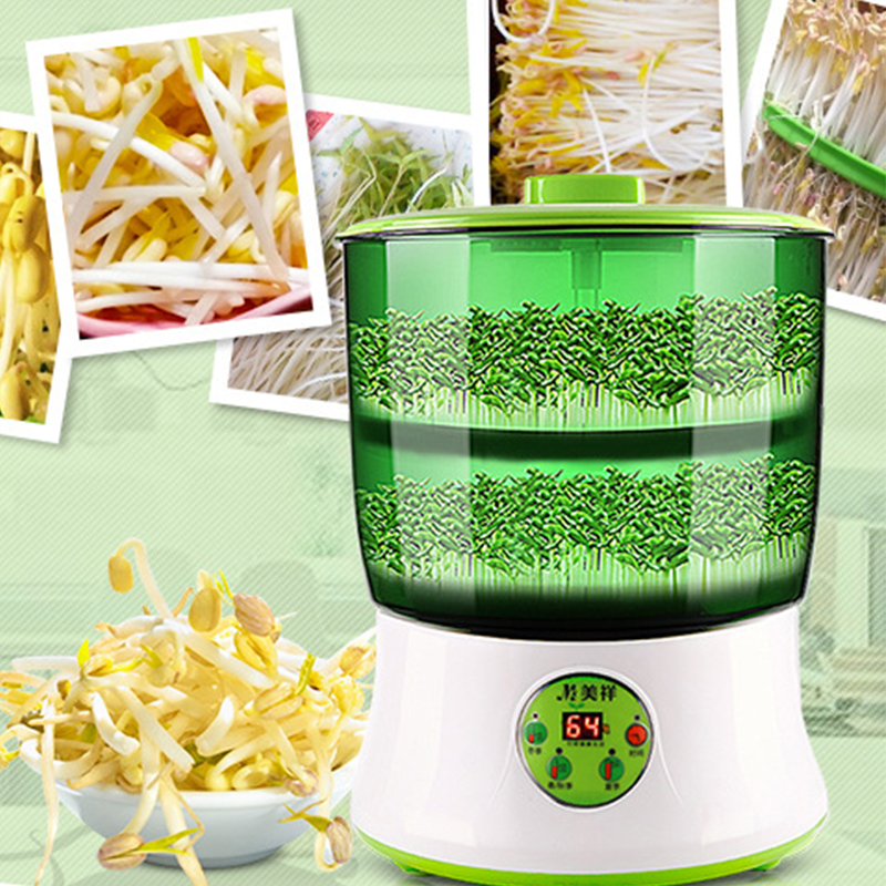 bean sprout machine Food processor Germinated sprout Agricultural machinery maquina Household Intelligent Automatic Sprout yoga sprout комплект