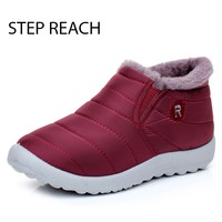 STEPREACH Brand Winter Women Boots Female Waterproof Flexible Ankle Boots Down Warm Snow Boots Ladies Shoes
