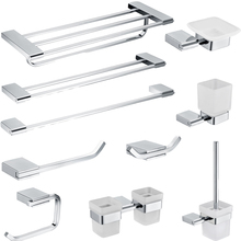 Leyden Chrome Polished Chrome 304 Stainles Steel Bathroom Accessories Sets Towel Shelf Towel Bar Toilet Paper Holder Robe Hook 81ccp series chrome polished crystal