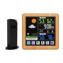 Погода, цифровой будильник, термометр метеостанции, гигрометр, квадратный дом, офис, USB кабель