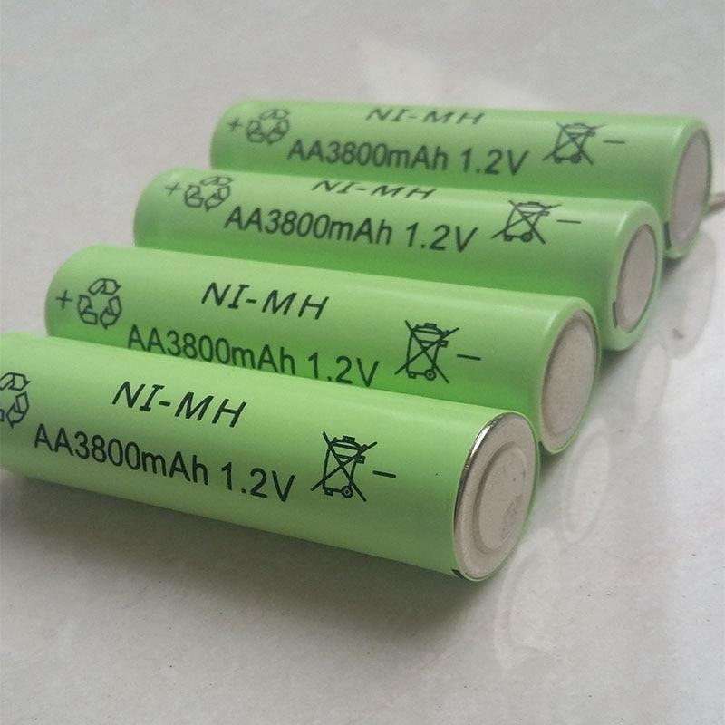 DING LI SHI JIA 12pcs AA 3800mAh 1 2 V Rechargeable Battery NI MH 1 2V