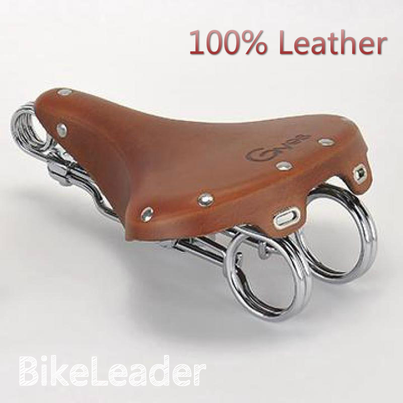 2016 New Arrival 100% Leather Retro Bike Saddles Gyes Comfortable Durable Rail Cycling Bicycle Seat Cushion 2016 new retro 100