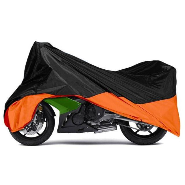 Black Orange Motorcycle Cover Outdoor Rain UV Dust Protection Dustproof Covering For Harley Road King Electra Glide Street Glide
