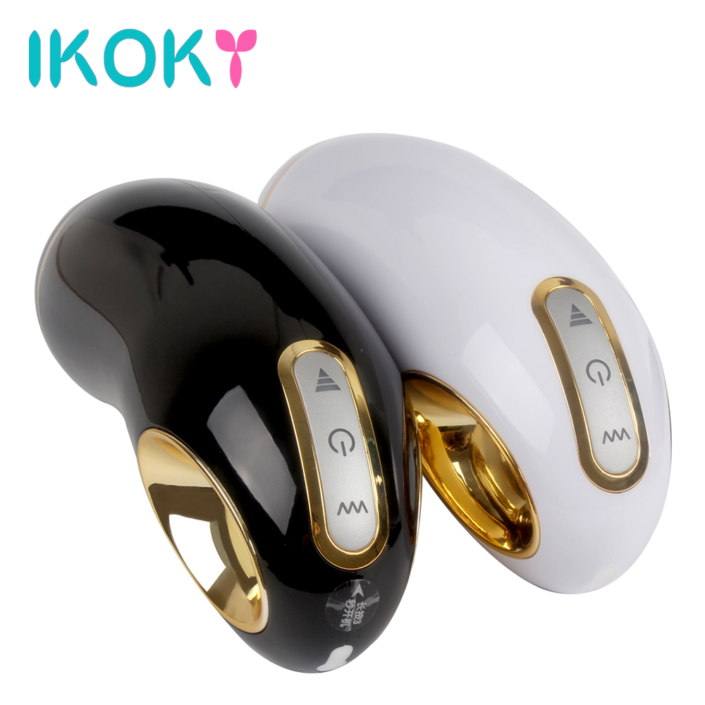 IKOKY Sex Toys for Men Electric Male Masturbator Cup Real Pussy USB Rechargeable Artificial vagina Vibrating Masturbation male electric masturbator toy vibrating 10 modes realistic pussy vagina masturbation cup sex toys usb rechargeable 360373
