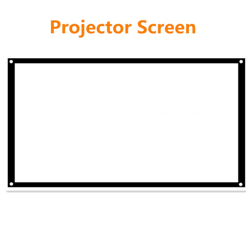100 Portable Projector Screen 16:9 4:3 HD Projection Screen For DLP,CRT,LCD,UHD,HD,3D For Home Family Cinema/Education Use fast free shipping 100 4 3 tripod portable projection screen hd floor stand bracket projector screen matt white factory supply