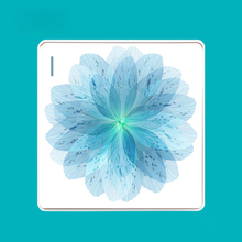 86 Switch Socket Panel Fresh Personality Creative Art Bloom Blue Series PC 220V 10A