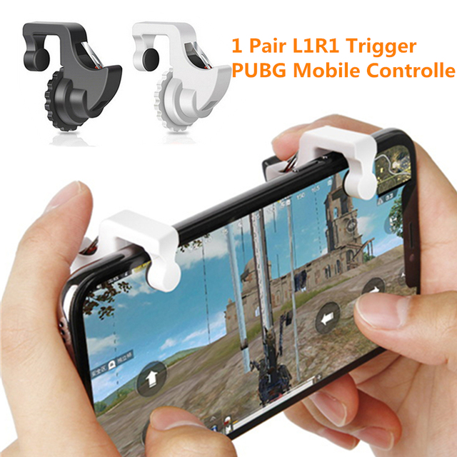 US $1 21 24% OFF L1 R1 PUBG Mobile Trigger Controller L1R1 Shoot Fire  Button Aim Key Smartphone Phone Game Joystick Gamepad For iPhone Android-in