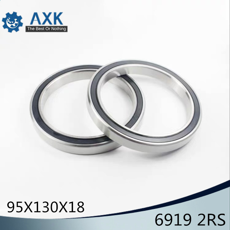 6919 2RS ABEC-1  95x130x18MM  Metric Thin Section Bearings 61919RS 6919RS6919 2RS ABEC-1  95x130x18MM  Metric Thin Section Bearings 61919RS 6919RS