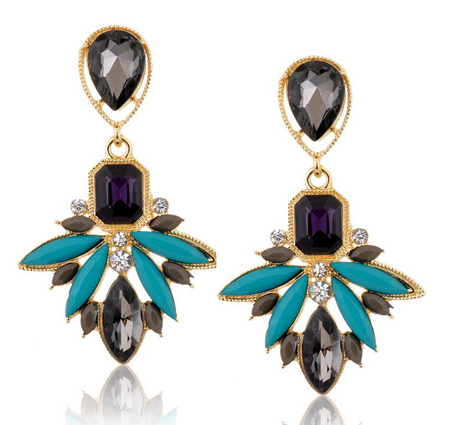 New Fashion Crystal Zircon Earrings For Women