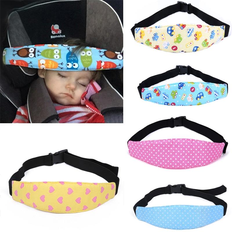 Kid Adjustable Elastic Baby Stroller Head Support Band Fastening Belt Baby Car Seat Safety Sleep Positioner Stroller Accessories