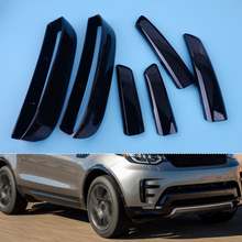 CITALL Car 6pcs Plastic Black Front Bumper Grille Air Vent Cover Set Fit For Land Rover L462 Discovery 5 2017 2018