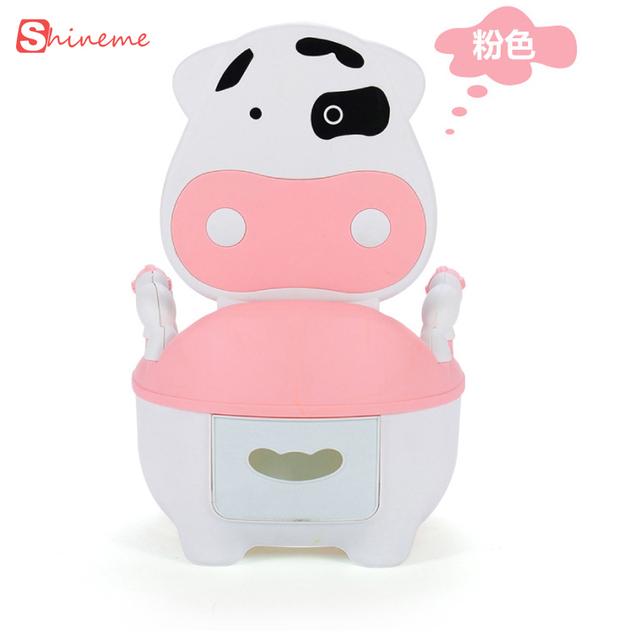 Novo 4 cores maravilhosas as vacas gaveta potty higiênico confortável do bebê da alta qualidade crianças pequenas para crianças pequenas