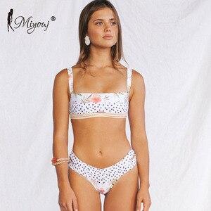 Image 4 - Miyouj Bikinis con Push Up para mujer, traje de baño Floral, bañador de lunares, conjunto de Bikini de Bandeau para playa 2019