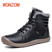 WONZOM 2017 Winter New Fashion Rubber Antiskid Ankle Boots Waterproof Warm Fur Snow Boots 4 Color
