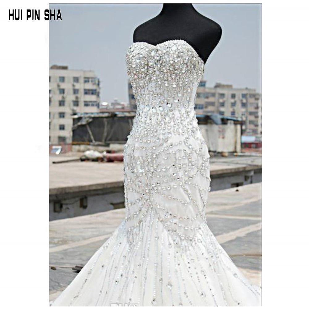 Aliexpresscom Buy Luxury Bling Bling Wedding Dresses Mermaid
