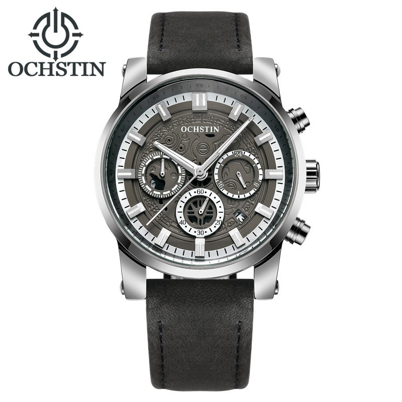 OCHSTIN Men Chronograph Watch Top Brand Luxury Sport Quartz Wrist Watch Men Leather Military Business Watch Male Clock 2017 ochstin luxury watch men top brand military quartz wrist male leather sport watches women men s clock fashion wristwatch