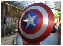 Envío de DHL The Avengers Real 1:1 Tamaño Capitán América ESCUDO De Metal Película Prop Replica Colección de Alta Calidad