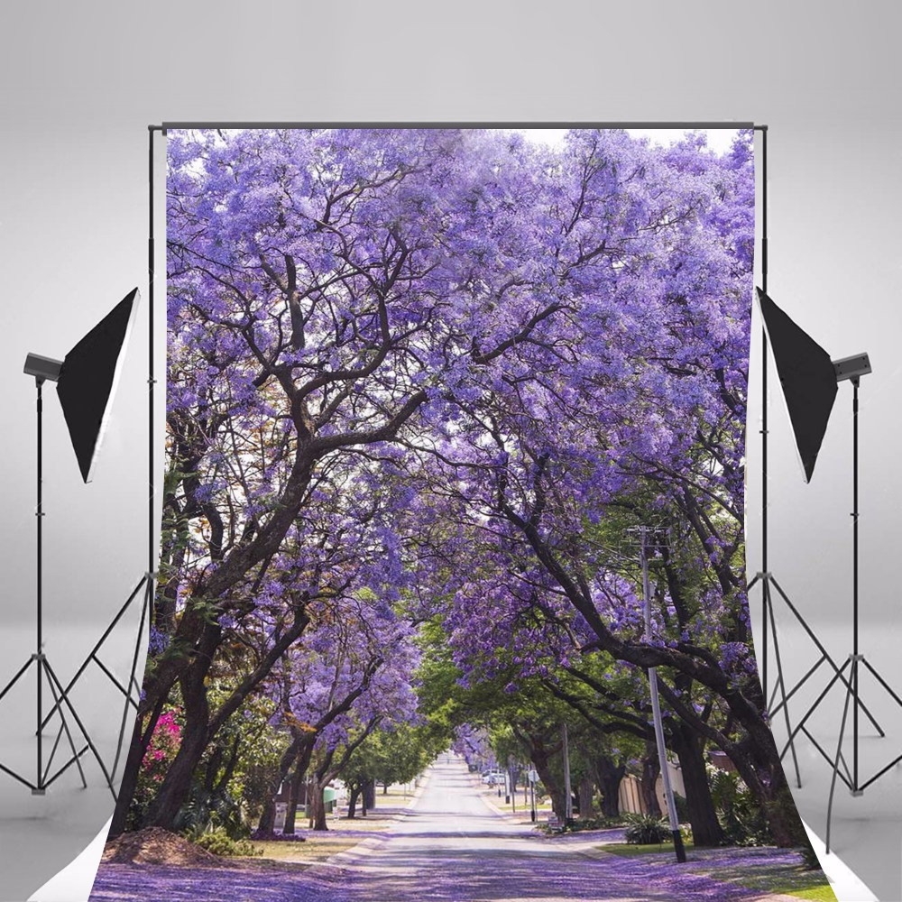 2017 Spring Scenic Photography Backgrounds Photo Backdrops Camera Fotografica Purple Forest Background Studio Props ashanks photography backdrops solid screen 1 8m 2 8m backgrounds porta retrato for camera fotografica photo studio