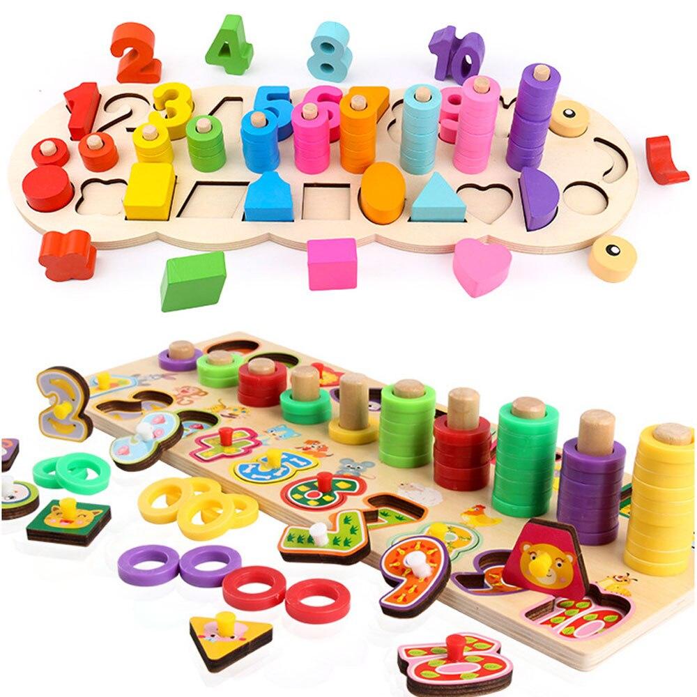 3In1 Montessori Math Toys Digital Shape Pairing Learning ...