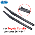 Oge 26''+14'' Car Windshield Wipers For Toyota Corolla Pair 2007-2014  Inch Iso9000 Brush Car Accessories CPU701