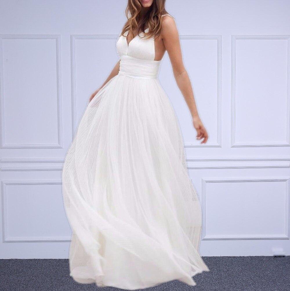 Real Simple Weddings 2017: Linyixun Real Photo Beach Wedding Dresses Spaghetti Straps