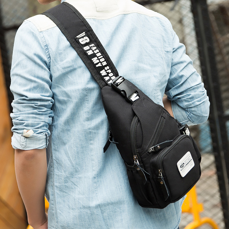 New Sling Oxford Bag Chest Pack Men Messenger Bags Casual Travel  Male Small Retro Shoulder Bag Crossbody Daypack 20*6.5*31.5 Cm mymei women luxury bracelet watch stainless steel analog quartz wrist watches