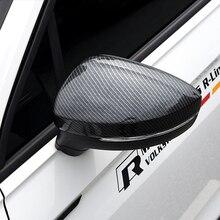 Per Tiguan mk2 2016 2017 2018 ABS Auto in fibra di Carbonio copertura dello specchio retrovisore Copertura Trim Accessori Auto Styling 2 pcs
