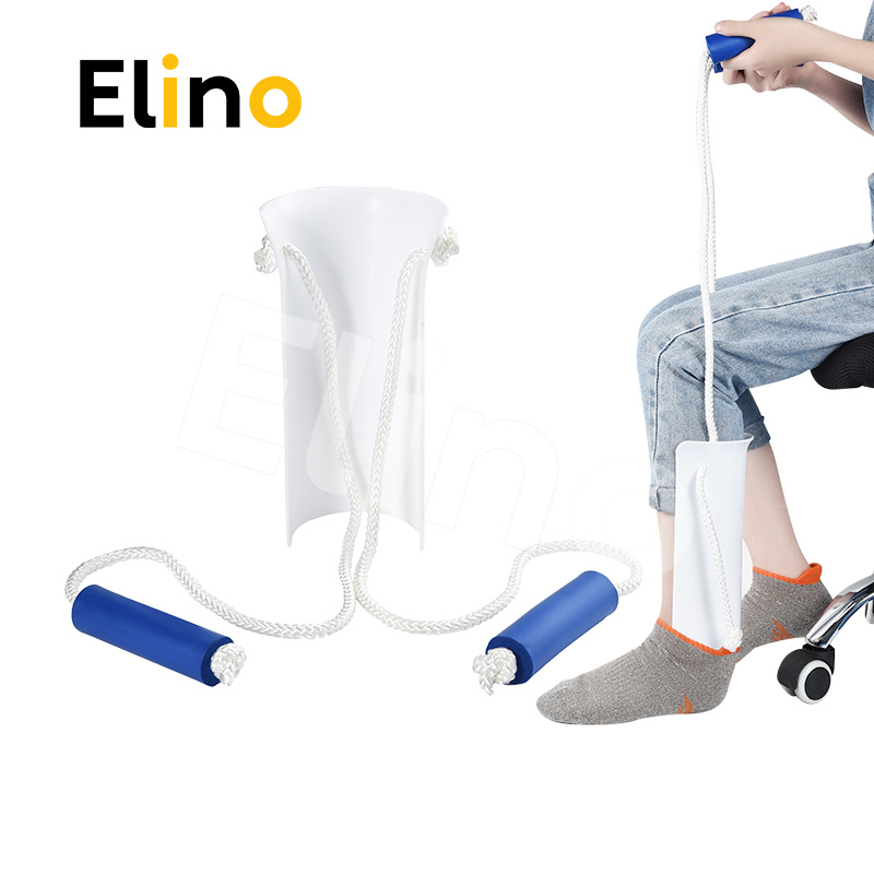 Elino Sock Stocking Aid for Pregnant Elder Sock Wear Shoe Horn Device Slider Easy On Off Socks Assist Disability Elderly Tool