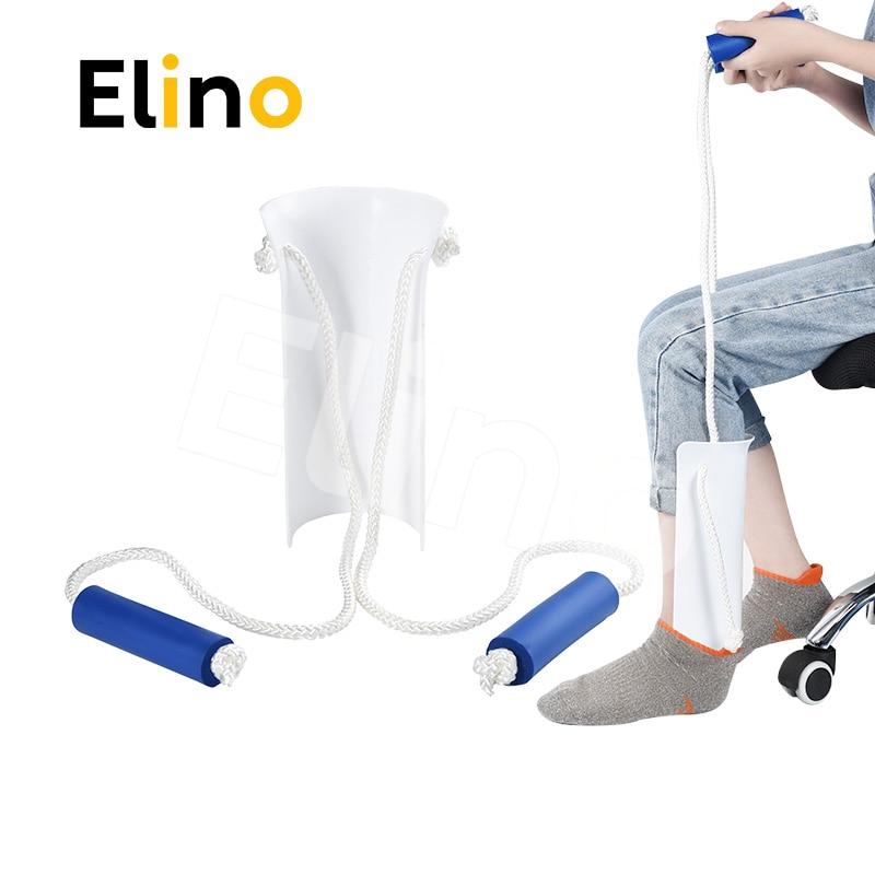 Elino Sock Stocking Aid for Pregnant Elder Sock Wear Shoe Horn Device Slider Easy On Off Socks Assist Disability Elderly Tool
