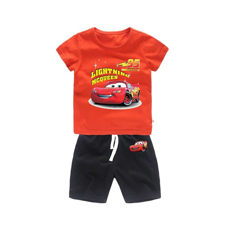 Einfach 2019new Kinder Sommer Cartoon Kleidung Set Junge Mode Baby Kleidung T-shirt Top + Baby Freizeit Baumwolle Shorts Hosen 2pcs2-6year Gute QualitäT