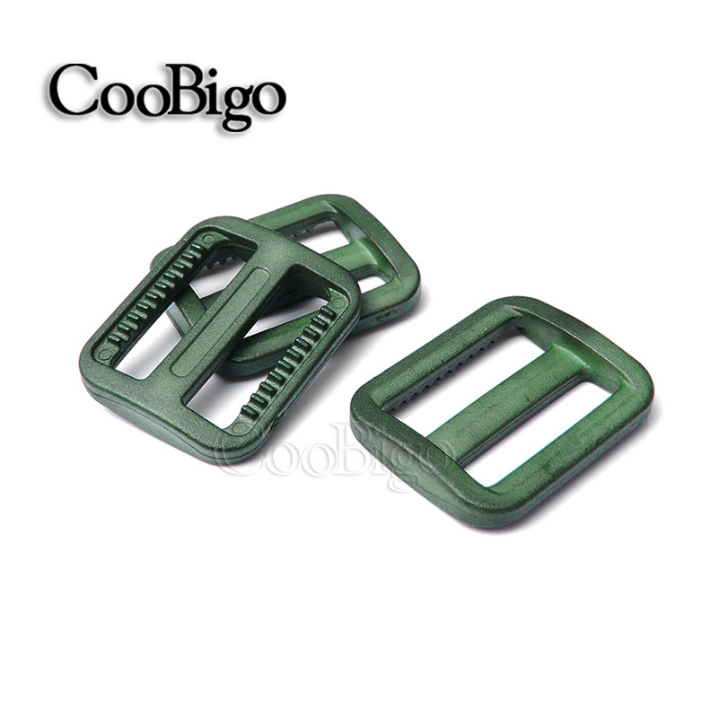 25mm 1000pcs Pick Color 1 plastic Tri-glides Slider Adjustable Buckle Backpack Webbing Moll Tactical Bag Parts