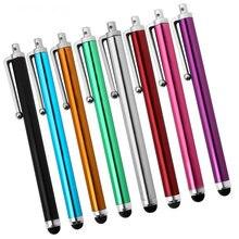 100 ชิ้น/ล็อต Capacitive Stylus Universal Multicolor Touch ปากกาแพ็คขายปลีกสำหรับ iPad iPhone 7