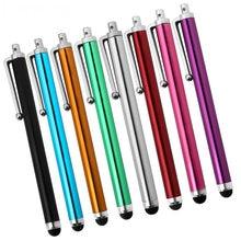 100 sztuk/partia pojemnościowy rysik uniwersalny wielokolorowy dotykowy długopis z opakowania do sprzedaży detalicznej dla iPad iPhone 7