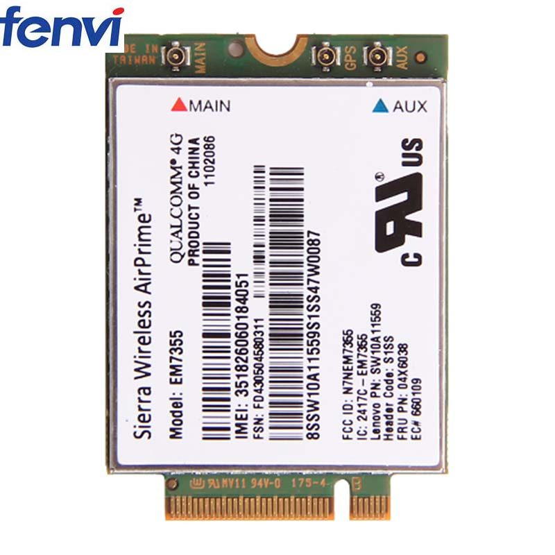 US $19 15 16% OFF|Sierra Gobi5000 EM7355 LTE 4G WWAN FRU 04X6038 NGFF Wifi  Card For Lenovo T440 X240 W540 T440P T431S-in Network Cards from Computer &