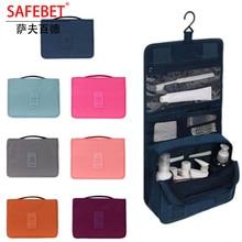 ФОТО safebet brand multifunction waterproof large travel nylon organizer cosmetic bags women men beauty cosmetic bag personal bag