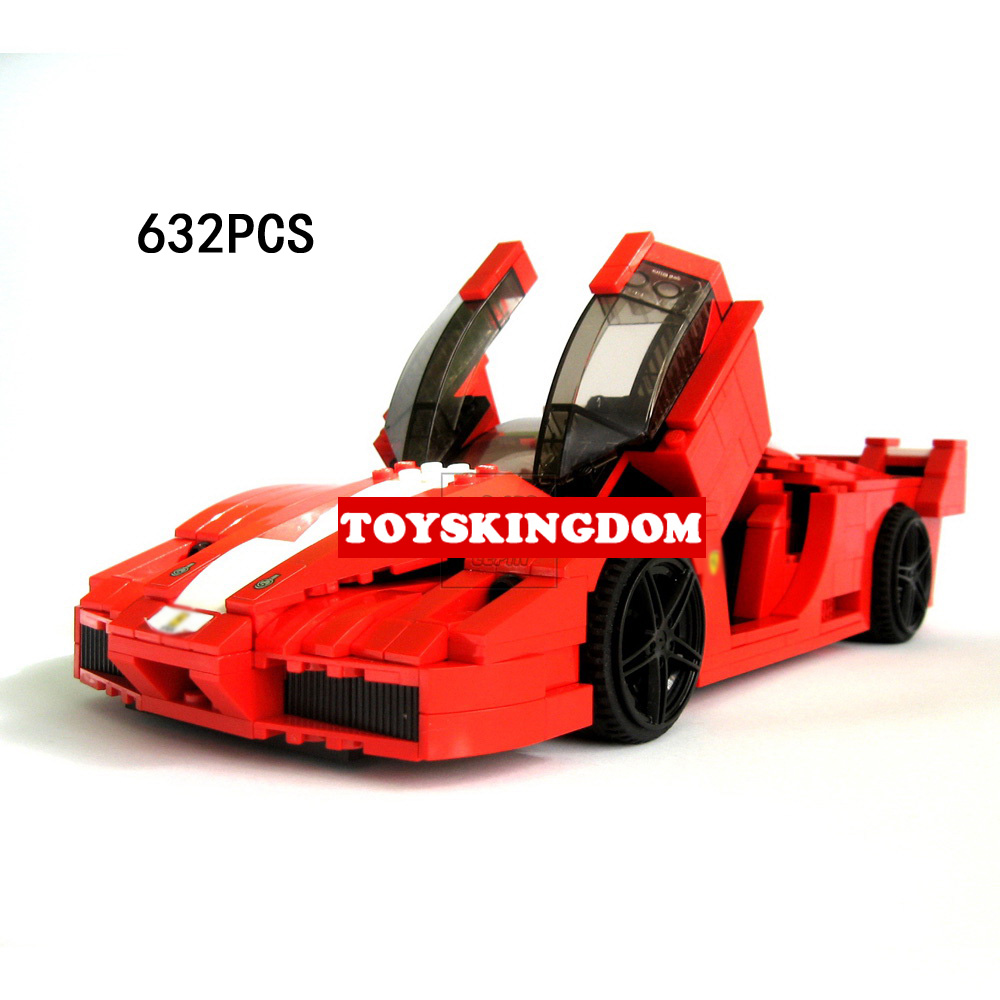 Classic technics racers 1:17 scale Italy famous horse brand Super sports car FXX building block model bricks 8156 toys for boys hot racing italy horse logo fxx k